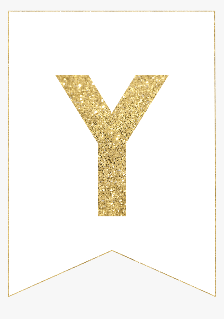 Free Printable Gold Banner Letters P, HD Png Download - kindpng In Free Letter Templates For Banners