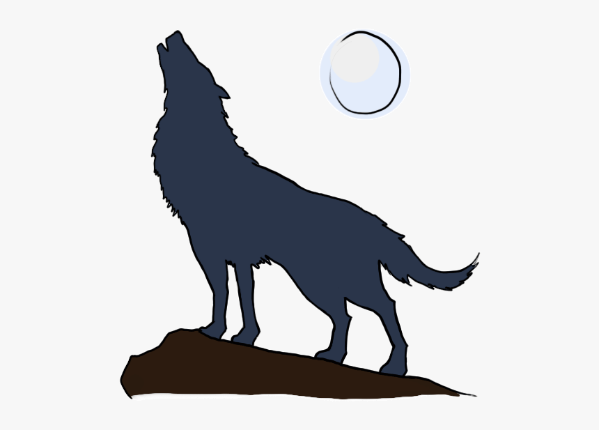 How To Draw A - Wolf Howling Cartoon Drawing, HD Png ...