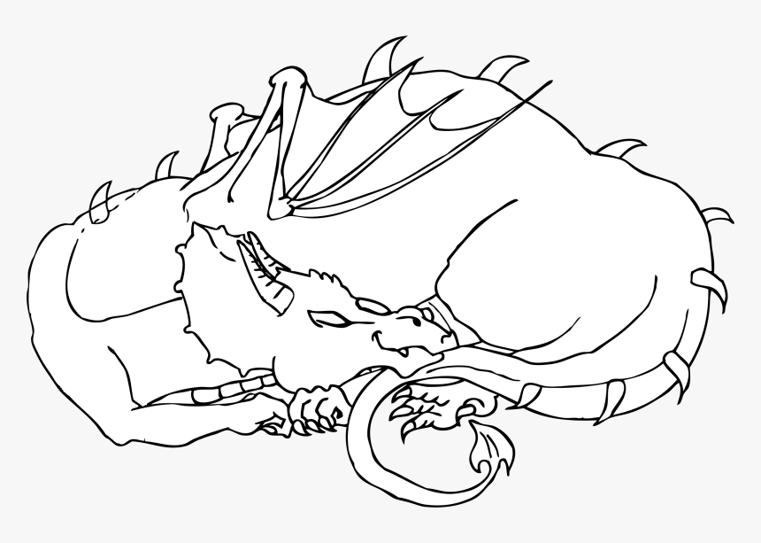 This Free Icons Png Design Of Sleeping Dragon Sleeping Dragon Colouring Pages Transparent Png Kindpng