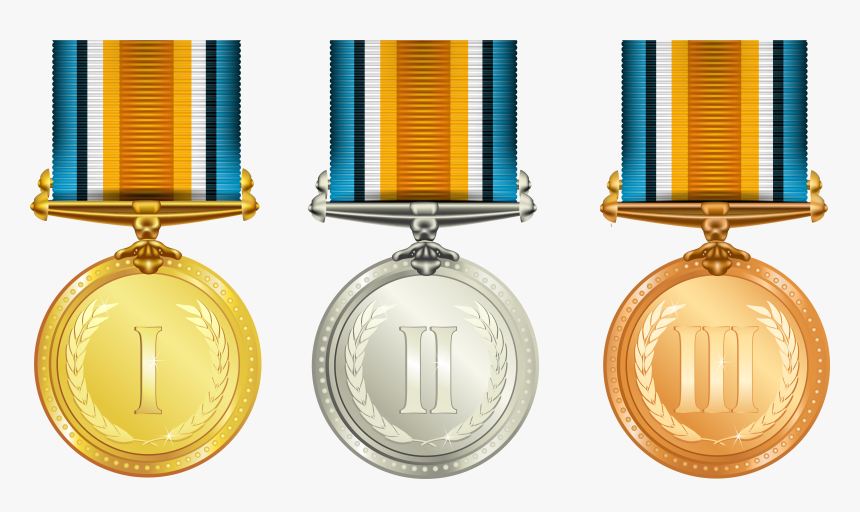 Medal,gold Accessory,bronze Medal - Gold Silver And Bronze Medals Png, Transparent Png, Free Download