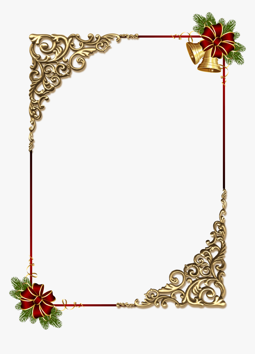 Christmas Gold Png Photo - Gold Christmas Border Designs, Transparent Png, Free Download