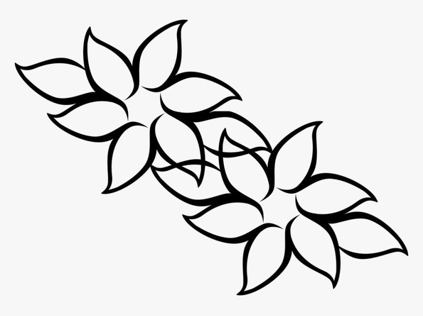 Flores Para Colorir E Pintar Easy Hawaii Flower Drawing Hd Png