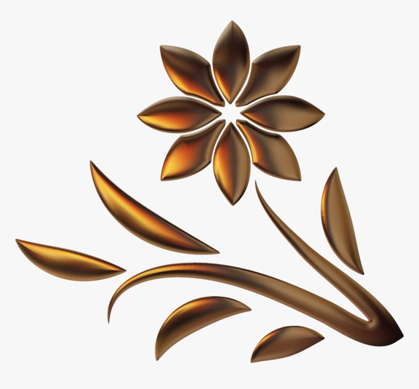 Golden Flower Png - Background Golden Flower Png, Transparent Png, Free Download