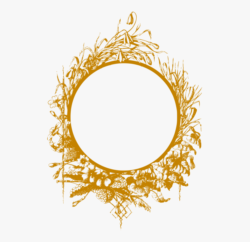 Leaf,tree,yellow - Gold Circular Frame Png, Transparent Png, Free Download