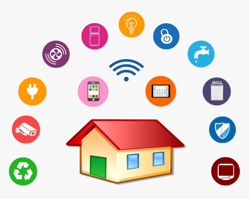 Transparent Home Clip Art - Smart Home Icon Png, Png Download, Free Download
