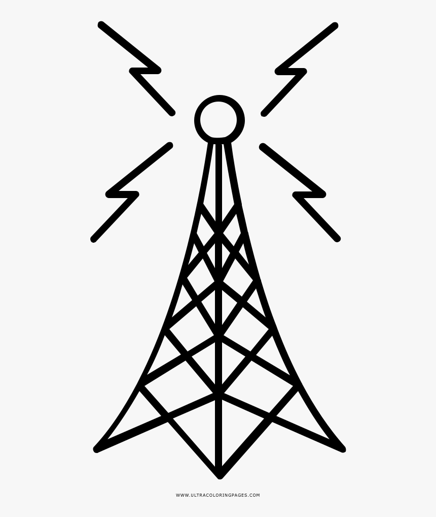Antenna Coloring Page - Dibujos De Antenas Para Colorear, HD Png Download, Free Download