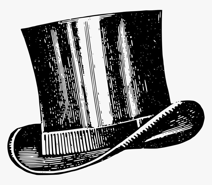 Vintage Top Hat Clip Art, HD Png Download, Free Download