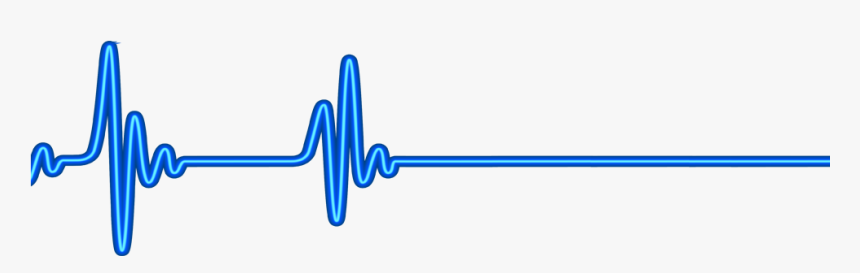 Neon Line Png - Blue Heart Rate Png, Transparent Png, Free Download