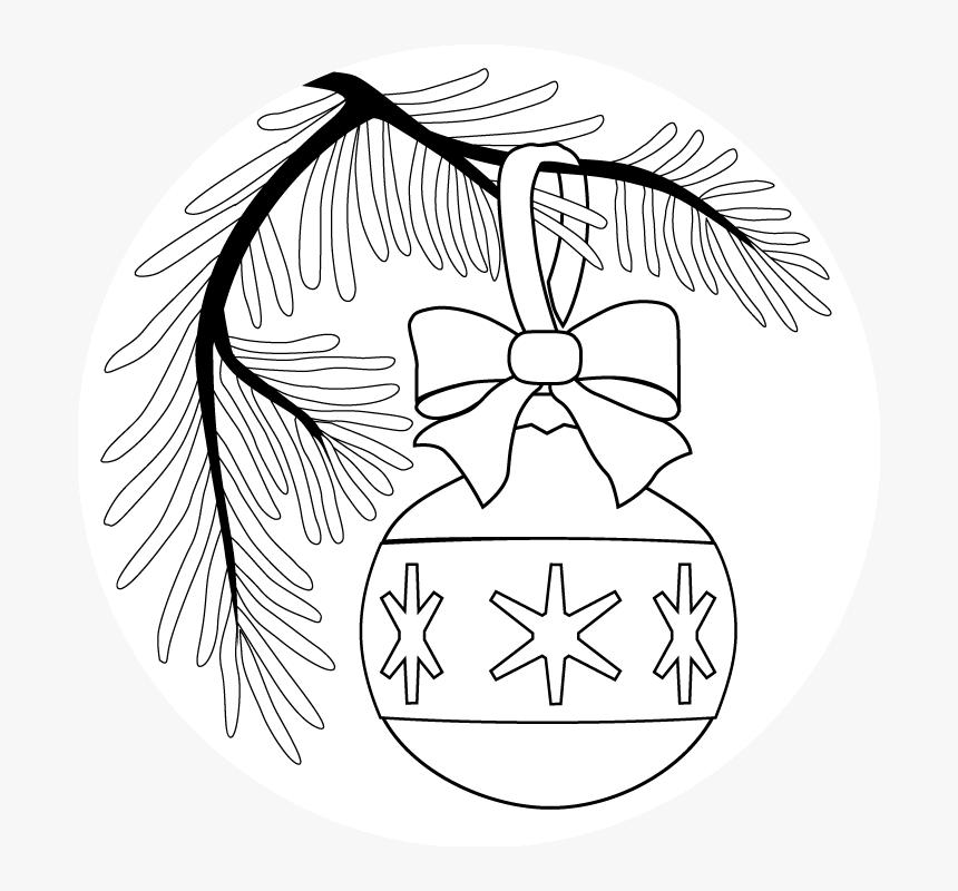 Transparent Christmas Ornament Clipart Black And White - Imagenes De Esferas Navideñas Para Dibujar, HD Png Download, Free Download