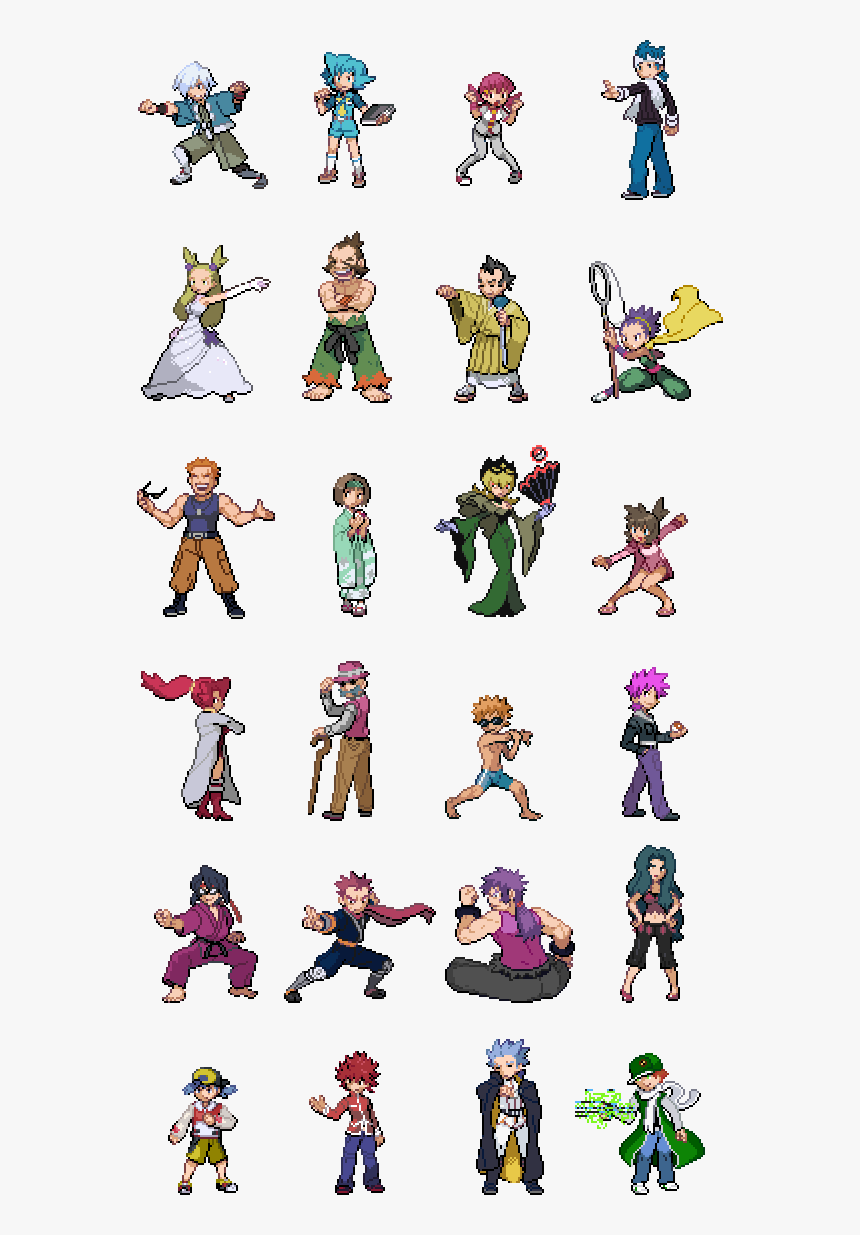 Tpp Fused Crystalfull Sprites Of The Fused Trainers - Pokemon Trainer Sprites Sun And Moon, HD Png Download, Free Download