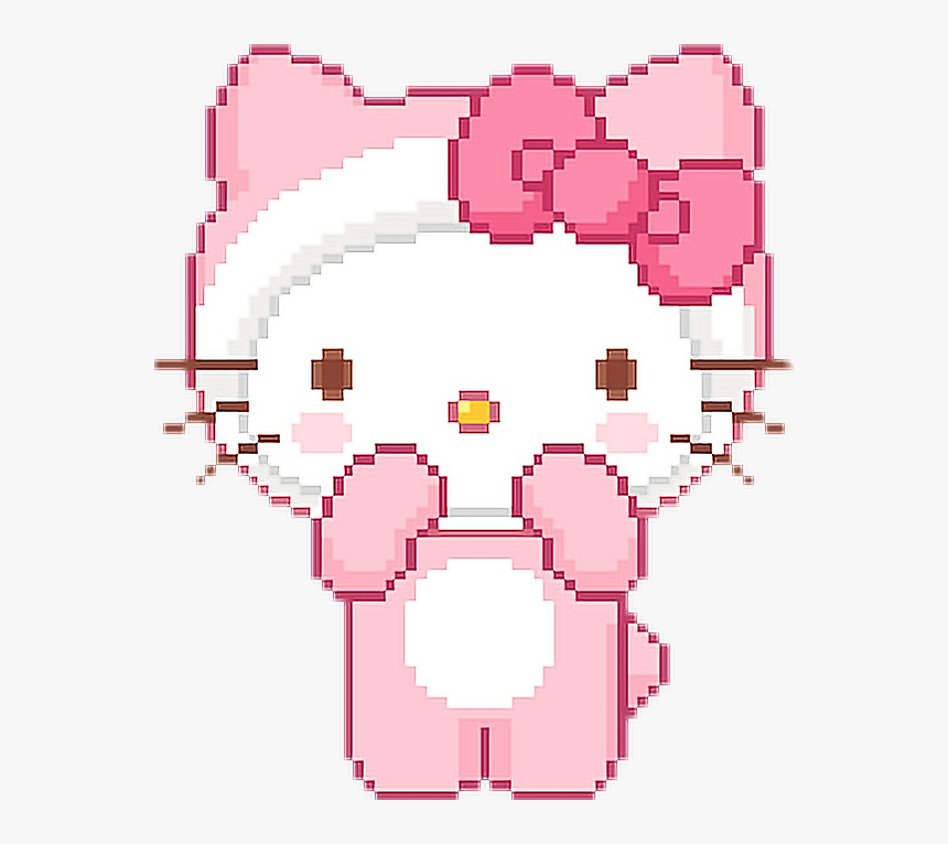 Transparent Hello Kitty Bow Png - Pixel Kawaii Hello Kitty, Png Download, Free Download