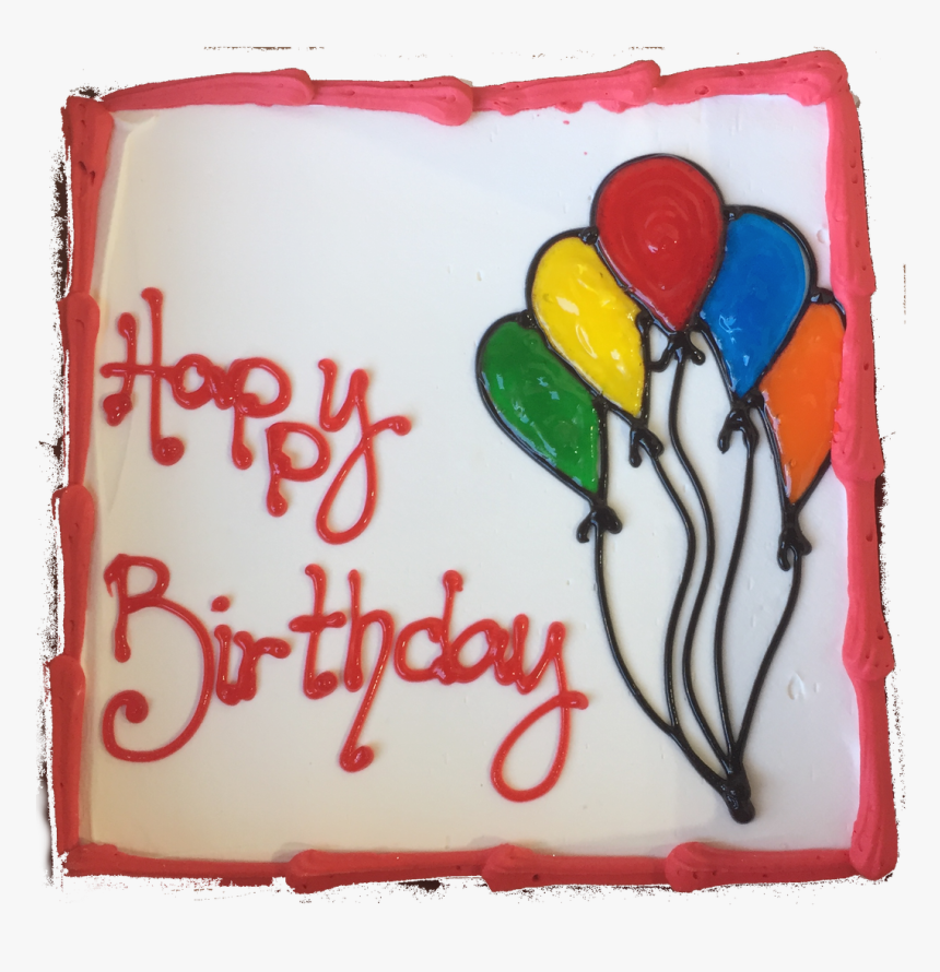 Happy Birthday Ice Cream Cake 8 Inch Square - Birthday Cake Images Cream Square, HD Png Download, Free Download