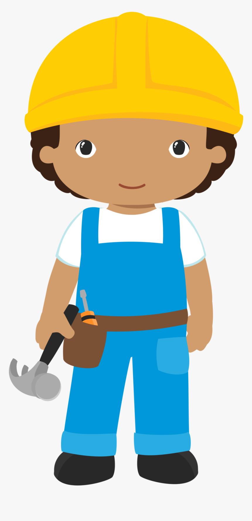 Construction Site Clipart Clipart Library Library 4shared - Kid Construction Worker Clipart, HD Png Download, Free Download