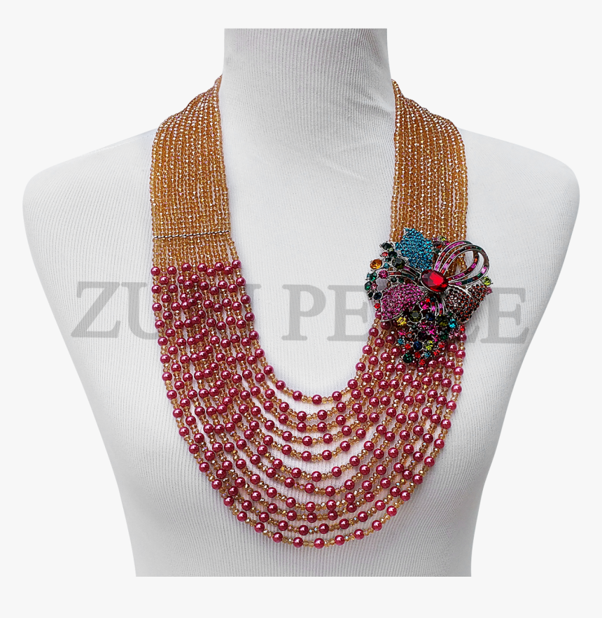 Handmade Unique Pearl Jewelry, Made With Pink Pearl - Necklace, HD Png Download, Free Download