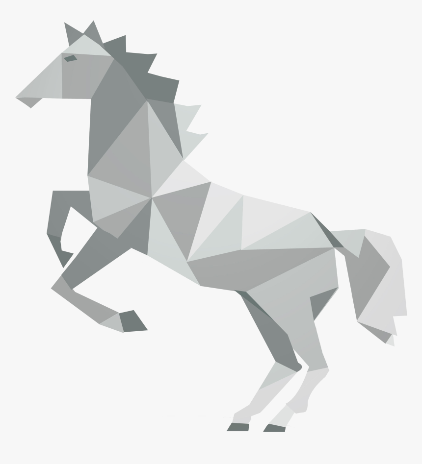 Png Transparent Library Geometric Shape Geometry Silhouette - Geometrical Shapes Of Animals Running, Png Download, Free Download