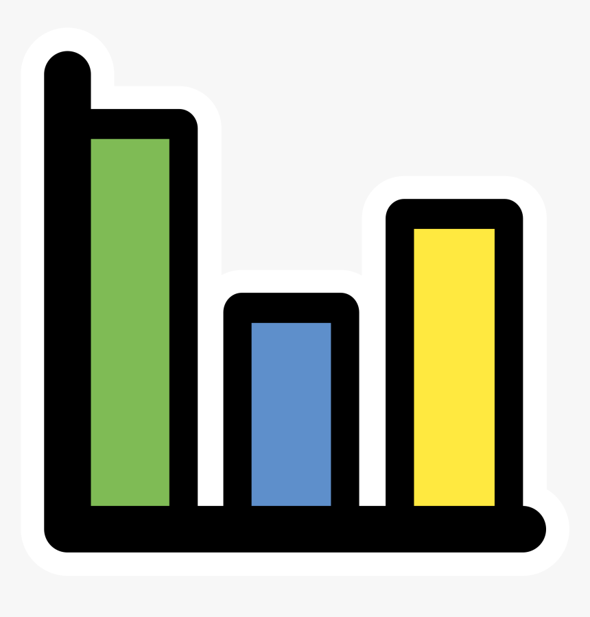 This Free Icons Png Design Of Primary Statistics , - Graphs Black And White, Transparent Png, Free Download