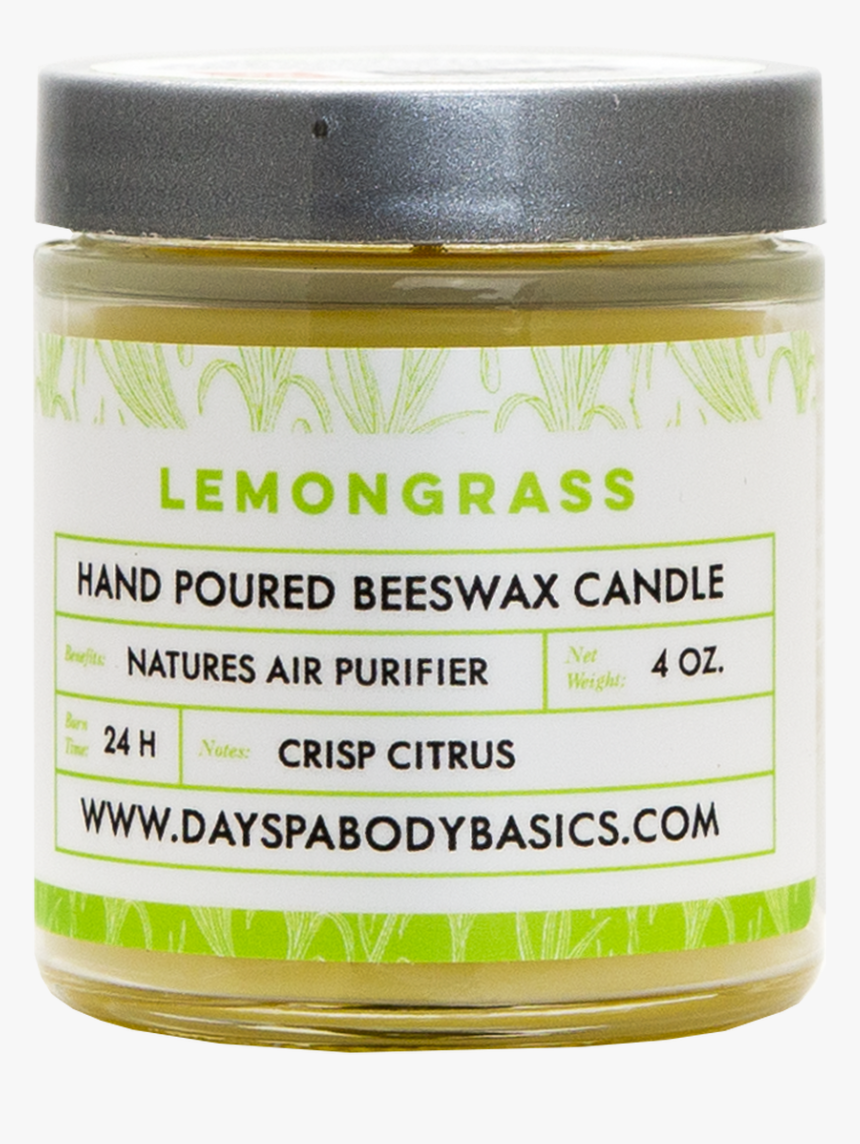 Lemongrass All Natural Beeswax Candle - Cosmetics, HD Png Download, Free Download