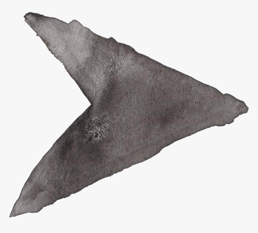 Watercolor Transparent Black - Drawing Arrow Png Grey, Png Download, Free Download