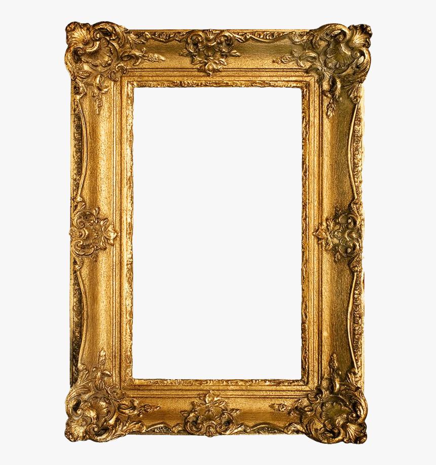 Golden Vintage Frame Png Clipart - Gold Frame Clip Art, Transparent Png, Free Download