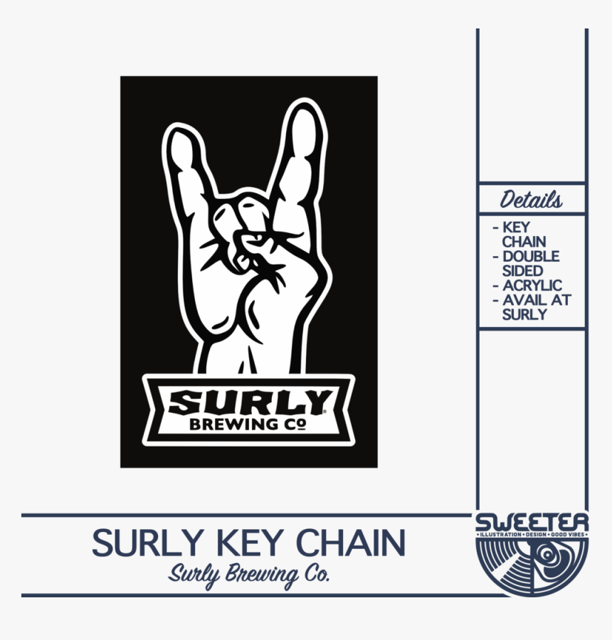 Surly Key Chain - Cartoon, HD Png Download, Free Download