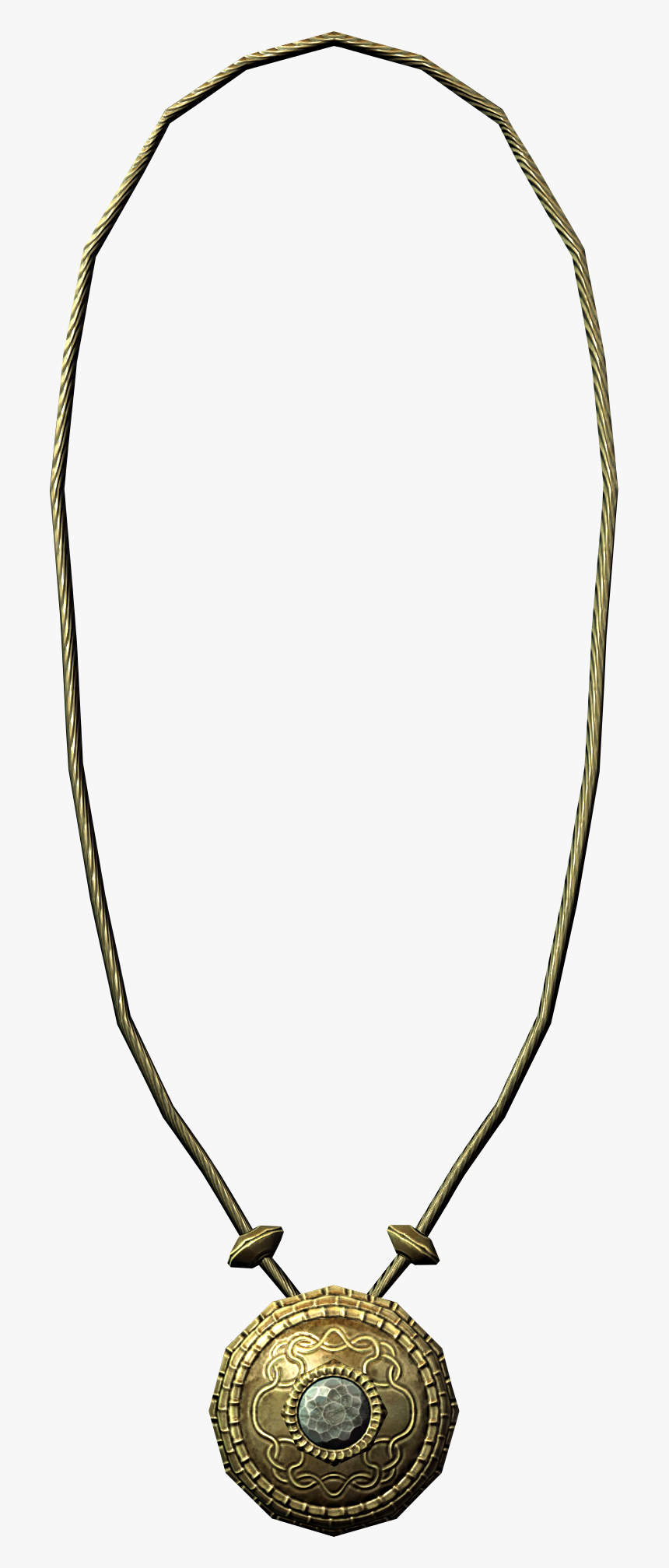 Elder Scrolls - Skyrim Gold Necklace, HD Png Download, Free Download