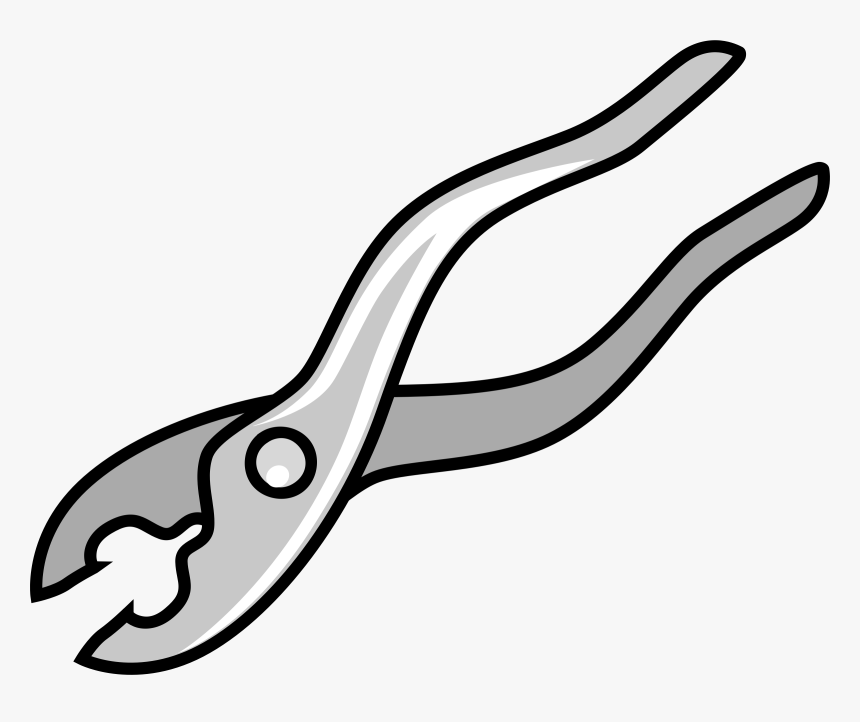 Needle Nose Pliers Tool Slip Joint Pliers Tongue And - Pliers Clipart, HD Png Download, Free Download