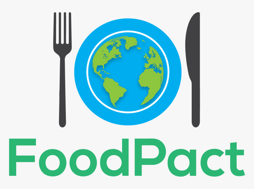 A Fork And Knife Surround A Plate That Has Earth On - Graphic Design, HD Png Download, Free Download