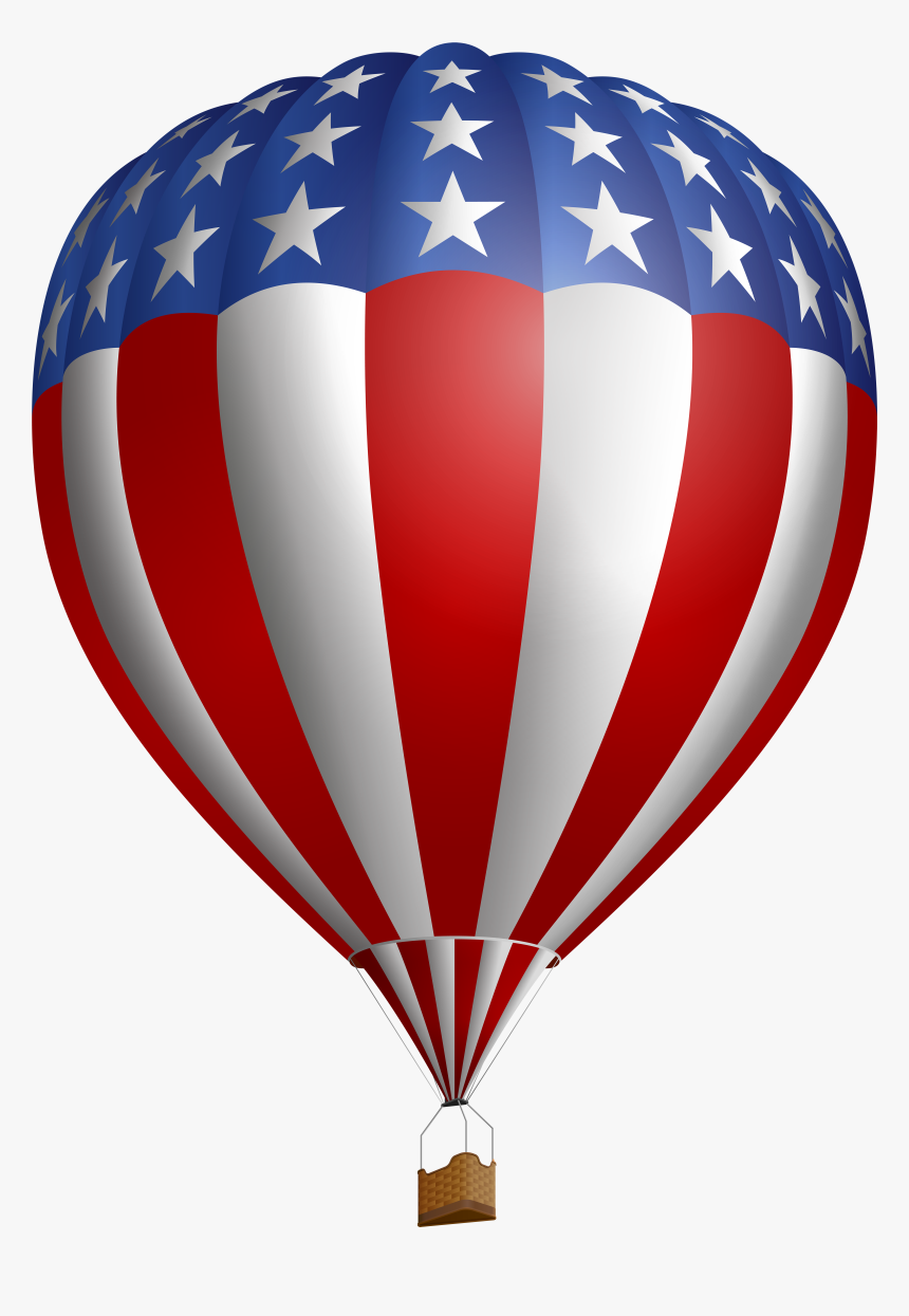 4th Of July Clipart Hot Air Balloon Png Transparent - American Hot Air Balloon Png, Png Download, Free Download