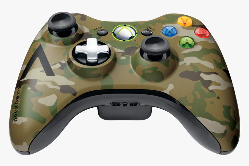 Xbox 360 Wireless Camo Controller Png, Transparent Png, Free Download