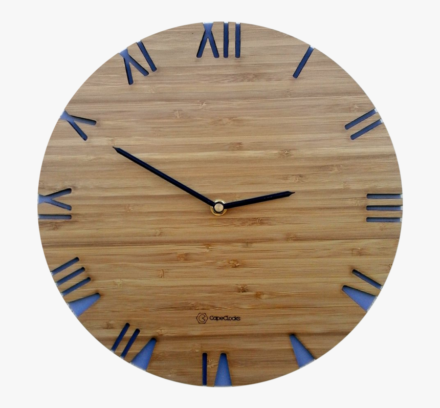 Roman Numeral Bamboo Clock By Capeclocks - Clock, HD Png Download, Free Download