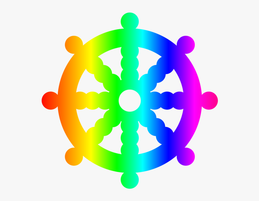 Dharma Wheel Symbol For Buddhism, HD Png Download, Free Download