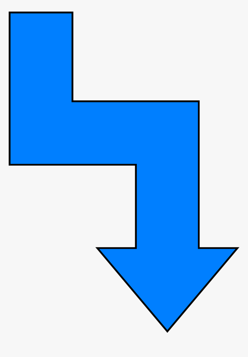 Arrow Blue - Crooked Arrow, HD Png Download, Free Download