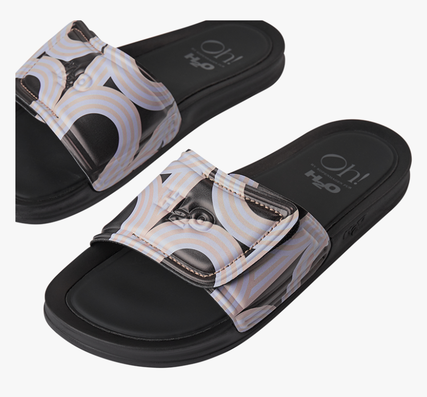 "H2o Fashion H2oh Laura Slipper Sandal 2021 Black/sky/safari""   - Slipper, HD Png Download, Free Download"