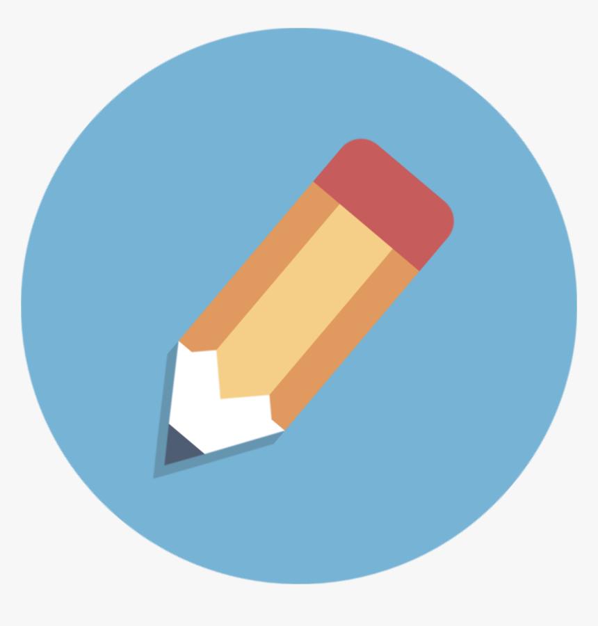 Pencil Icon Circle Png , Png Download - Pencil In A Circle, Transparent Png, Free Download