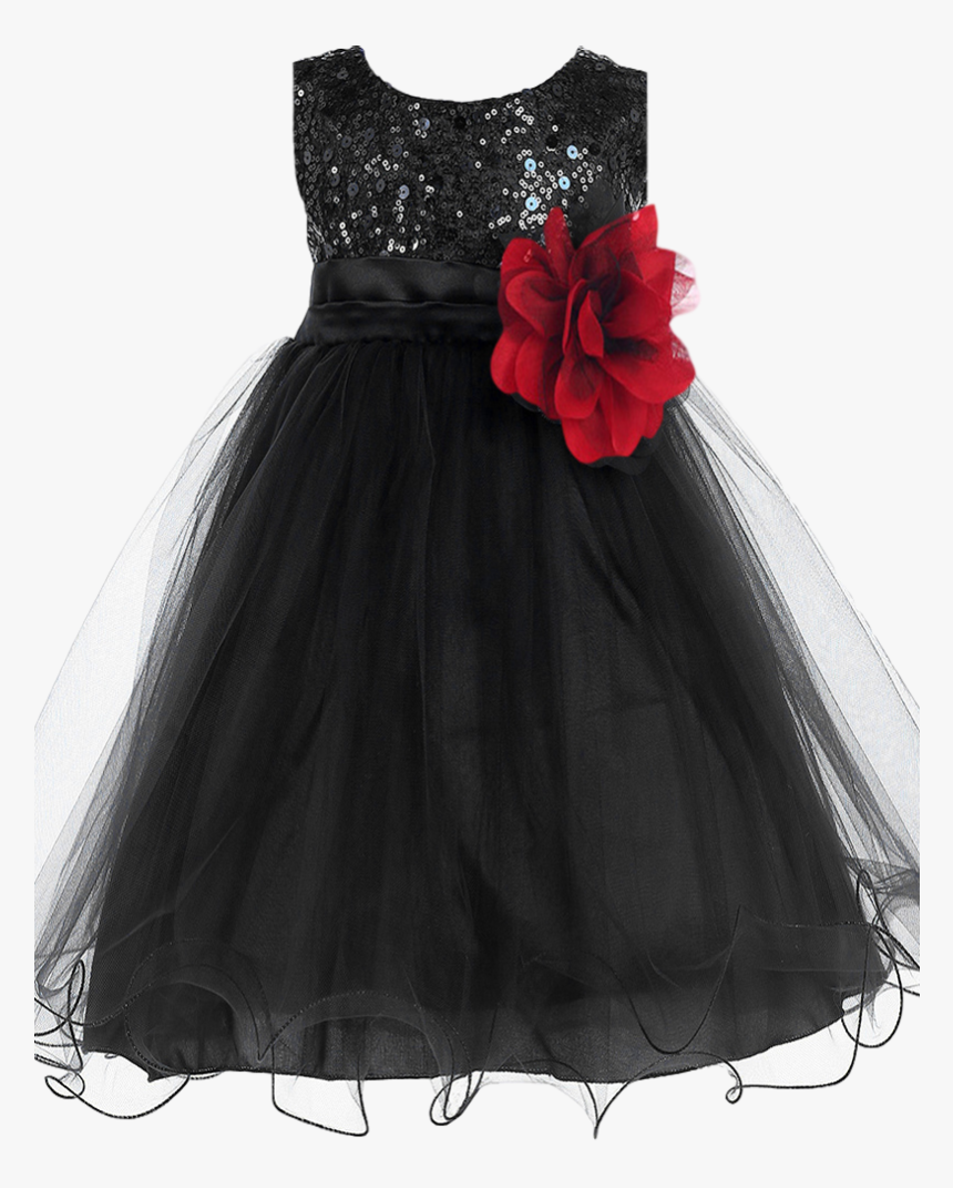 Sequin Black Dress For Baby, HD Png Download, Free Download