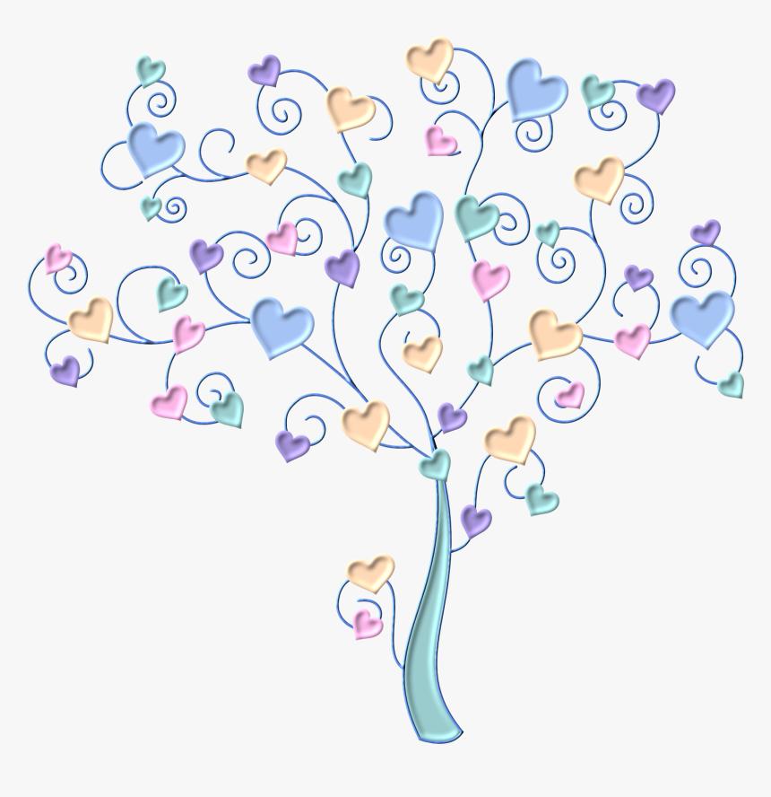 Transparent Arboles Animados Png - Arbol De Corazones De Colores, Png Download, Free Download