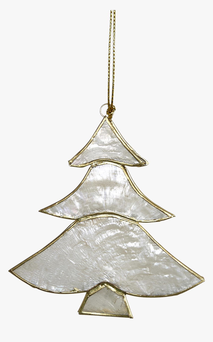 Capiz Christmas Tree Ornament - Capiz Christmas Tree Decoration, HD Png Download, Free Download