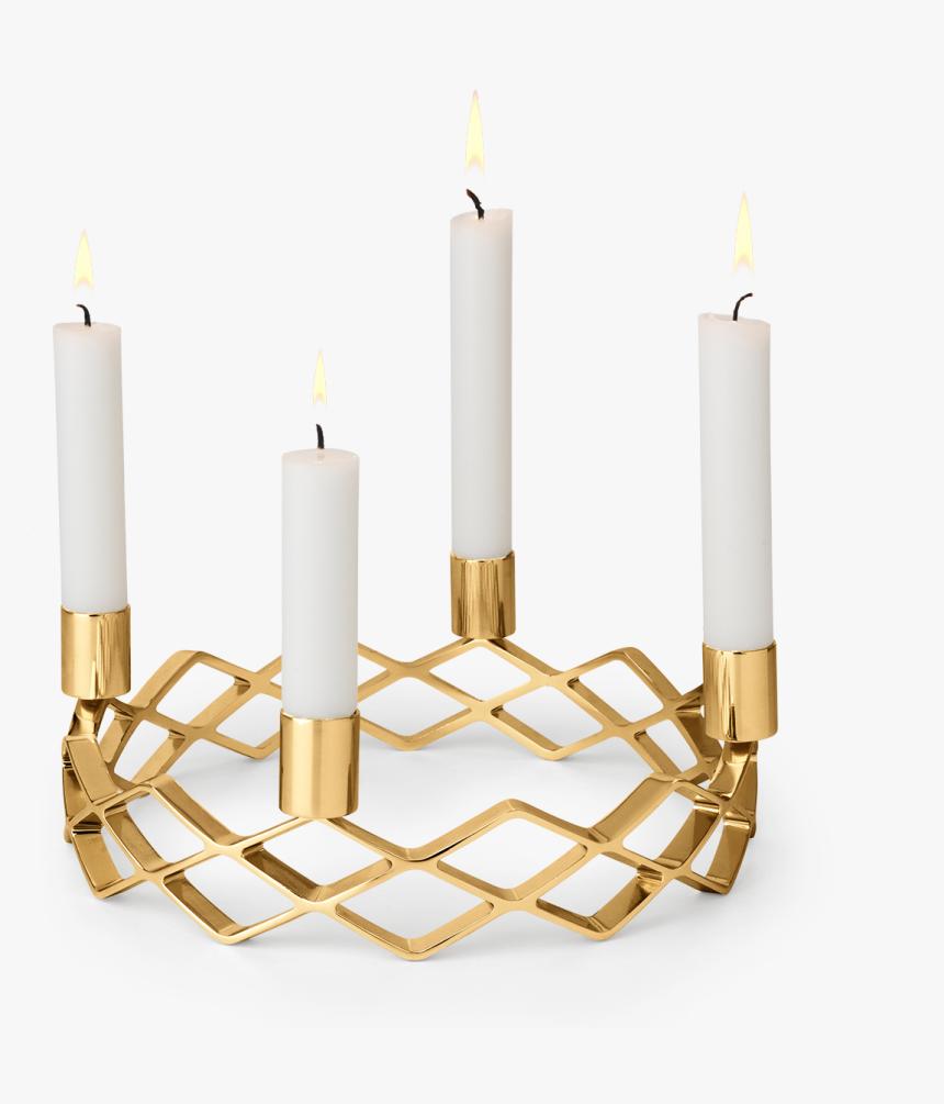 Advent Candle Holder Oe25 5 Cm Gold Plated Karen Blixen - Rosendahl Karen Blixen, HD Png Download, Free Download