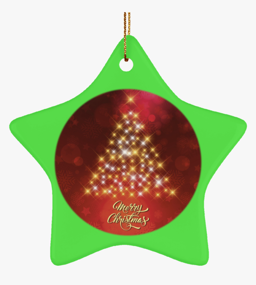 Ceramic Green Christmas Tree Ornaments - Background Christmas Card, HD Png Download, Free Download