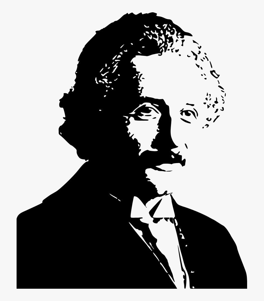 Albert Einstein Silhouette Svg Vector File, Vector - Albert Einstein Silhouette Png, Transparent Png, Free Download