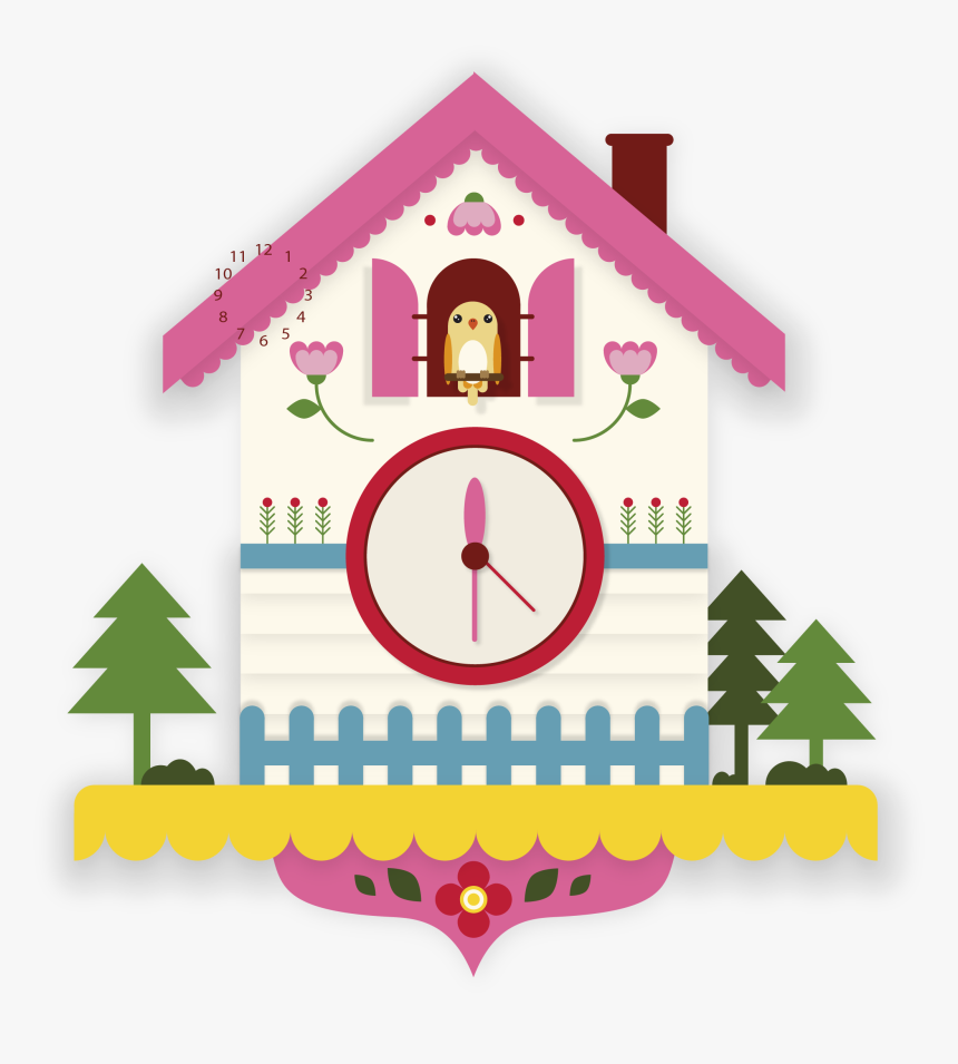 Transparent Ringing Alarm Clock Png - Cute Cuckoo Clock Clipart, Png Download, Free Download