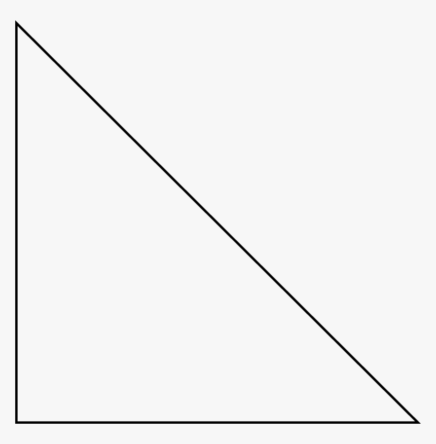 Triangle Classification By Angles - Right Angle Triangle Vector, HD Png Download, Free Download
