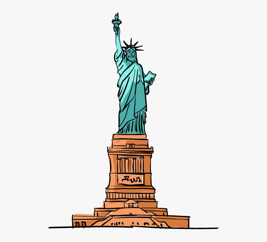Statue Of Liberty Cartoon Download - Cartoon Statue Of Liberty, HD Png Download, Free Download