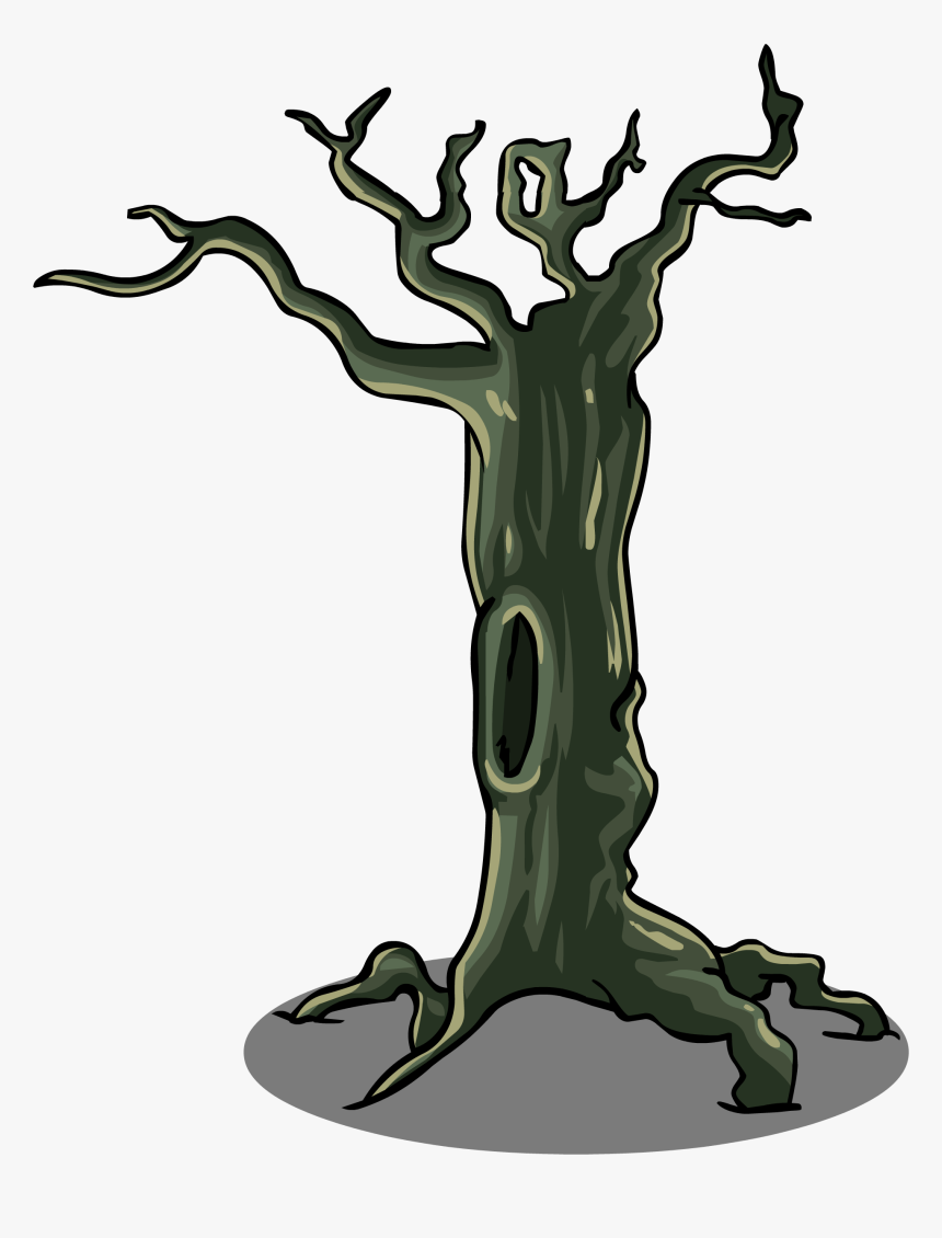 Trunk Clipart Scary Tree - Tree Branch Sprite, HD Png Download, Free Download