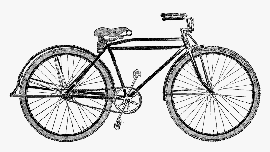 Antique Bicycle - Png Antique Bike, Transparent Png, Free Download