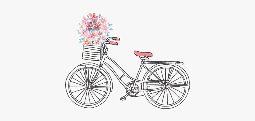 #aesthetic #vintage #bicycle #bike #flower #cute #drawing - Vector Vintage Bicycle Png, Transparent Png, Free Download