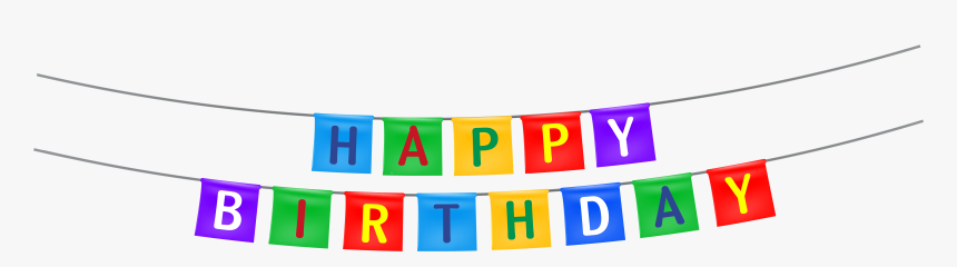 Happy Birthday Streamer Png Clipart Image - Transparent Background Happy Birthday Clipart, Png Download, Free Download