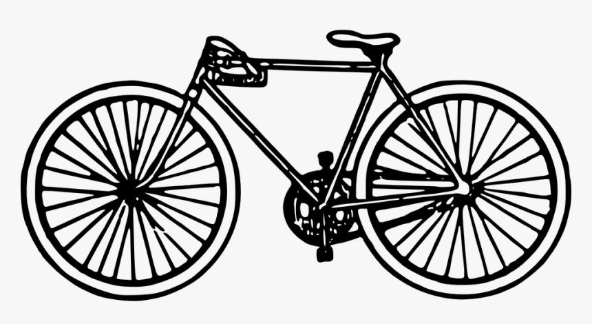 Transparent Vintage Bicycle Png Clip Art Black And White Bike Png Download Kindpng