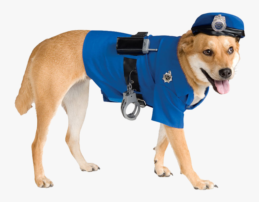 Dog In Police Outfit - Police Dog Costume, HD Png Download, Free Download