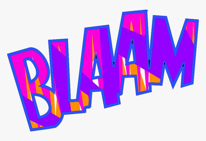 Free Blaam - Clip Art Onomatopoeia, HD Png Download, Free Download